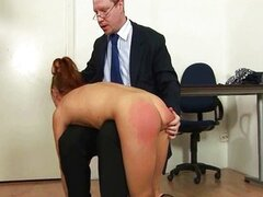 College girl spanked by principal
