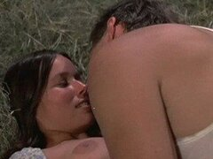 Foxy Retro Brunette Barbara Hershey Shows Her Juicy Jugs and Hot Ass