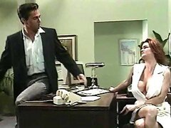 Kim Chambers seduces her boss and rides his cock