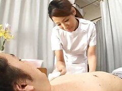 Akira Ichinose the hot nurse gives sensual blowjob
