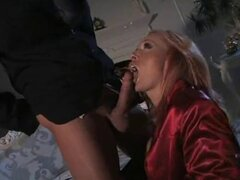 Nice Satin blowjob