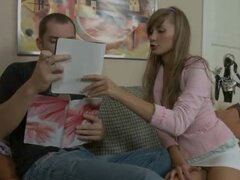Slutty russian tutor turns her student on