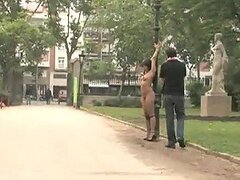 Cheating Wife Gets Tied Naked to a Pole