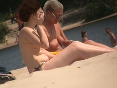 Nude beach cam voyeur takes kinky shots of different people