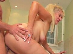 Cock Sucking Grandma Gets Fucked