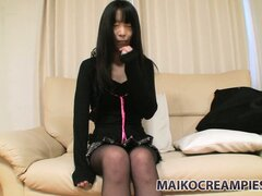 Japanese schoolgirl Yuko is all shy but tonight we'll make her feel frisky