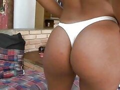 A bootiful blonde bimbo shows her amazing rump off and gets a shag out of it