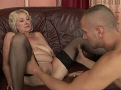 Blonde Old Lady Getting Her Snatch Fucked by the Grannyfucker