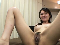 Chihiro gets her hungry pussy fucked in various positions until it gets creampied