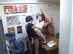 Hot Japanese Woman Is Having Awesome Hard Core Fucking Session In Office.