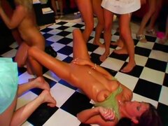 Group sex party in the nigh club!