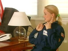 Hot Blonde Pilot Silvia Saint Fucked by an Air Force Commander