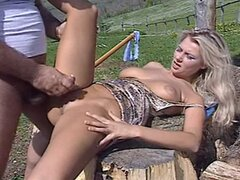 Hana Melonova gets her ass fucked on a farm