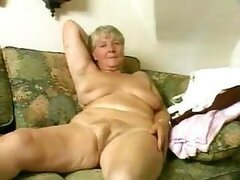 A giddy old granny finds her granddaughter's dildo...