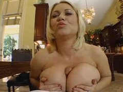 Sexy and nasty mature BBW will not let him go till she cums