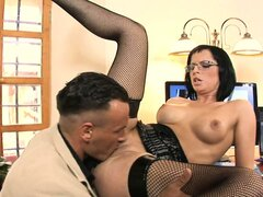 Renata is at the office and gets her cunt drilled by her boss