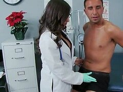 Horny and Busty Doctor Alexis Breeze Sucks and Fucks a Big Dick