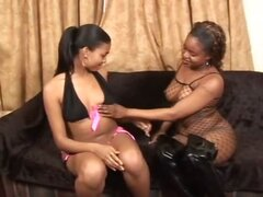 Black Lesbians Lick That Pink Pussy