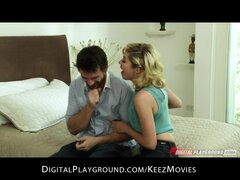 Excited blond wife can't wait to swing & fuck her friends husband