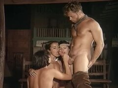 Hot and fiery orgy in the wild wild west with hot babes
