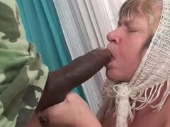 Granny with fucking black man