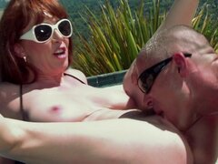 Cock-sucking babe Rayveness is fucking at the beach