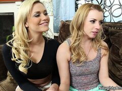 Lexi Belle has time for a hardcore threesome with hot blowjob...