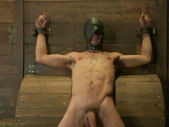 Gay boy is tied up and bound for some hot master action
