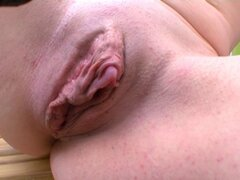 French huge clit and wet open pussy !!