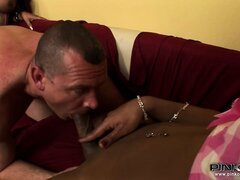 Delectable ass of white guy makes black shemale really horny