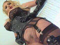 Taylor Wane in lace and boots