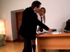 The teacher insists upon perfection in class and she pisses and blows him