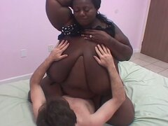 Bbw ebony pounded by young white boy