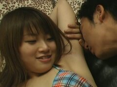 Cute asian armpit gets tickled with cock
