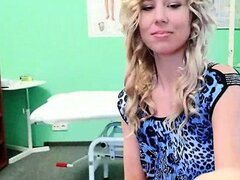 Sexy blonde girl fucked by a fake doctor