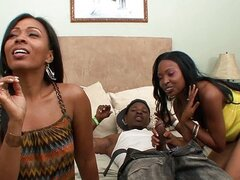 Phat ebony booty threesome