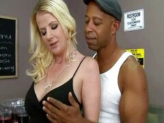 Blonde MILF Shuts Up with Black Cock in Mouth