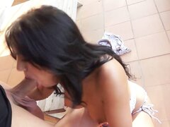 Young Cum Swallowing Latina gets her Mouth Filled