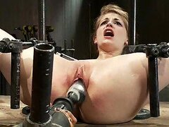 Passionate blonde Reaches An Orgasm With A Sex Toy And Some BDSM Fun