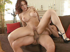 Stunning redhead Kylee Strutt Throws Back Her Legs And Pussy Punished With Thick Cock