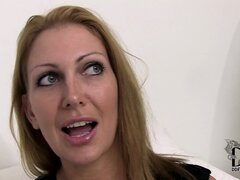 Blonde mom has new tits and they're soft, firm and massive to play with