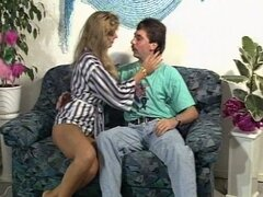 Young amateur german babe riding on a hard cock