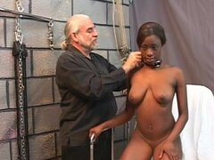Hot ebony in amazing BDSM
