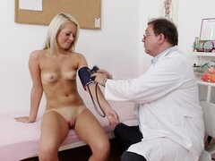Petite beauty visits her doctor