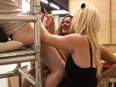 Watch cfnm hot babes give handjob