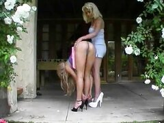 luscious slut fucked by hot blonde shemale