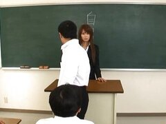 Megu Ayase Lovely Asian teacher gets