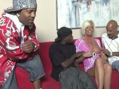 Hot mom platinum blonde jordan blue foursome with big dicks