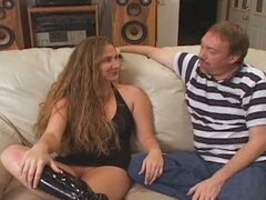 Supportive husband takes his wife to another man to get fucked