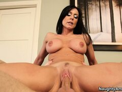 Naughty brunette mom Kendra Lust has her pussy full of young dick